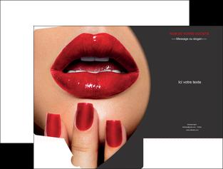 imprimer pochette a rabat centre esthetique  beaute institut de beaute institut de beaute professionnel MIF28093