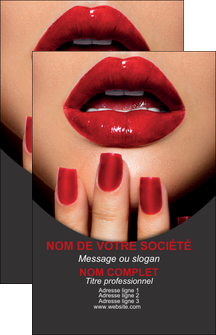 modele en ligne carte de visite centre esthetique  beaute institut de beaute institut de beaute professionnel MIF28097