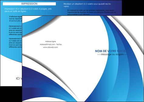 modele en ligne depliant 2 volets  4 pages  conceptuel couverture creatif MLGI28111