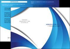 modele en ligne depliant 2 volets  4 pages  conceptuel couverture creatif MIF28111