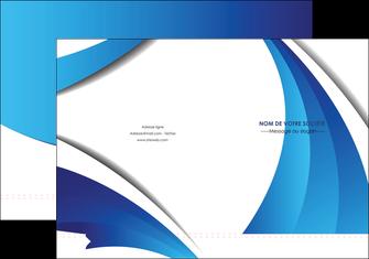 Commander Chemise / pochette à rabats  modèle graphique pour devis d'imprimeur Chemises à rabats - A4 plus - Quadri recto-verso - double rainages