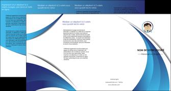 faire modele a imprimer depliant 4 volets  8 pages  chirurgien medecin medecine cabinet medical MIF28153