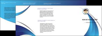 cree depliant 4 volets  8 pages  chirurgien medecin medecine cabinet medical MIF28155