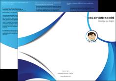 faire modele a imprimer depliant 3 volets  6 pages  chirurgien medecin medecine cabinet medical MIF28167
