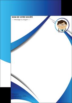 personnaliser maquette affiche chirurgien medecin medecine cabinet medical MIF28169