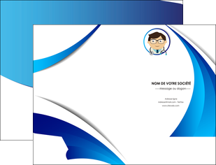 impression pochette a rabat chirurgien medecin medecine cabinet medical MIF28183