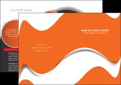 faire modele a imprimer depliant 2 volets  4 pages  texture contexture structure MLGI28197