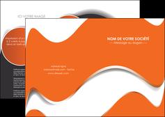 modele depliant 2 volets  4 pages  texture contexture structure MLIG28199