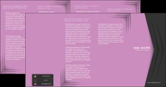 cree depliant 4 volets  8 pages  texture contexture structure MLGI28231