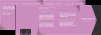 personnaliser maquette depliant 4 volets  8 pages  texture contexture structure MLIG28237