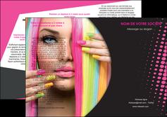 impression depliant 3 volets  6 pages  centre esthetique  coiffure coiffeur coiffeuse MLGI28291