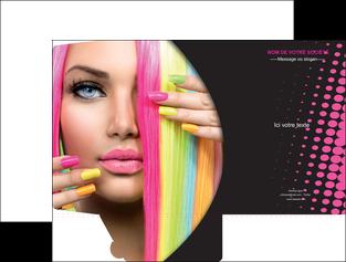 exemple pochette a rabat centre esthetique  coiffure coiffeur coiffeuse MLGI28309