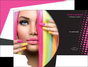 imprimerie pochette a rabat centre esthetique  coiffure coiffeur coiffeuse MLGI28311