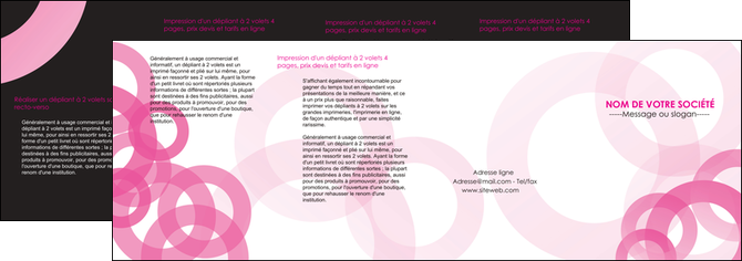 faire modele a imprimer depliant 4 volets  8 pages  texture structure contexture MLGI28429