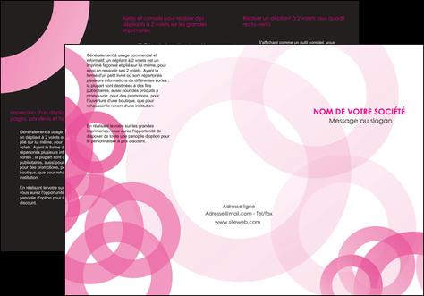 faire modele a imprimer depliant 3 volets  6 pages  texture structure contexture MLIG28441