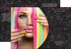 realiser depliant 3 volets  6 pages  cosmetique coiffure coiffeur coiffeuse MIF28461