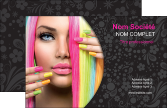 cree carte de visite cosmetique coiffure coiffeur coiffeuse MIF28481