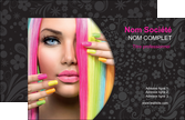 cree carte de visite cosmetique coiffure coiffeur coiffeuse MLIP28481