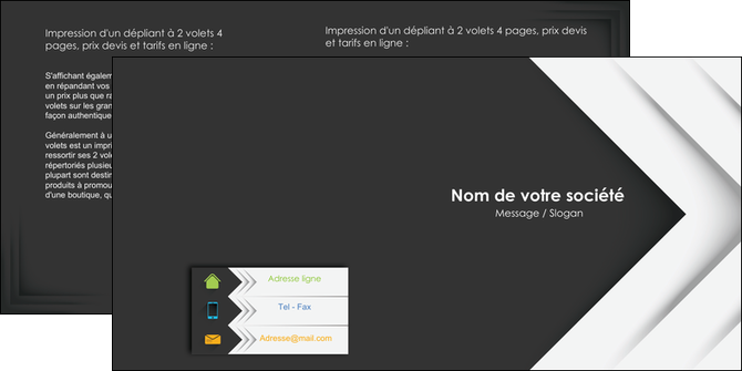 creation graphique en ligne depliant 2 volets  4 pages  texture structure contexture MLGI28547