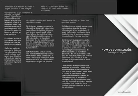 maquette en ligne a personnaliser depliant 3 volets  6 pages  texture structure contexture MLGI28553