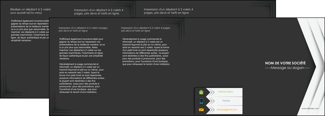 imprimer depliant 4 volets  8 pages  texture structure contexture MLGI28565
