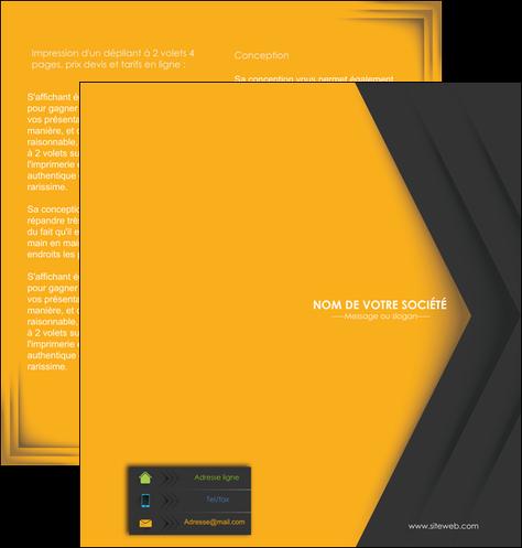 faire modele a imprimer depliant 2 volets  4 pages  texture structure design MLGI28665
