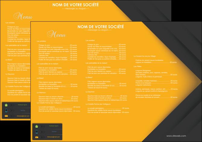 personnaliser modele de set de table restaurant menu liste des plats restaurant MLGI28667