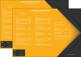 personnaliser modele de set de table restaurant menu liste des plats restaurant MLIG28667