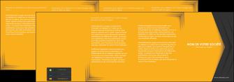 personnaliser maquette depliant 4 volets  8 pages  texture structure design MIF28669