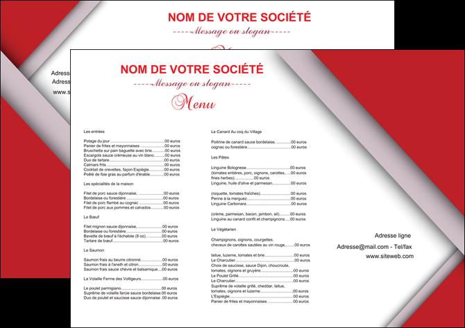 Set de table mod le et exemple set de table menu set de table menu for Internet 28717