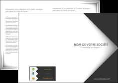 modele depliant 2 volets  4 pages  texture contexture structure MLIG28743