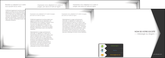 faire modele a imprimer depliant 4 volets  8 pages  texture contexture structure MLIG28749