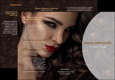 personnaliser maquette depliant 3 volets  6 pages  cosmetique beaute bien etre coiffure MLGI28805