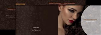 personnaliser modele de depliant 2 volets  4 pages  cosmetique beaute bien etre coiffure MLGI28817
