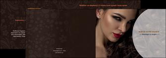 personnaliser modele de depliant 2 volets  4 pages  cosmetique beaute bien etre coiffure MLGI28819