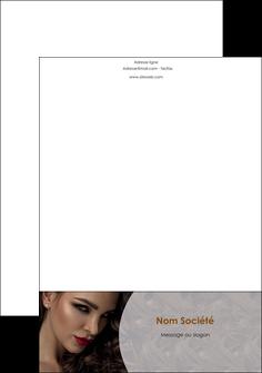 personnaliser maquette tete de lettre cosmetique beaute bien etre coiffure MLGI28829
