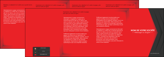 exemple depliant 4 volets  8 pages  texture structure courbes MLGI28845