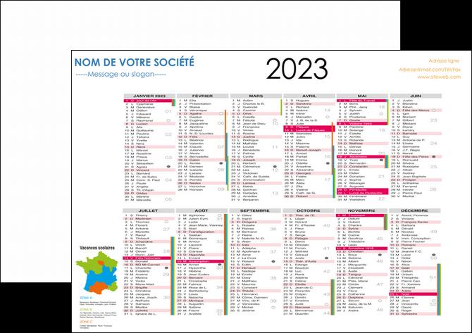 Modele De Calendrier 2020.Flyers Modele Et Exemple Calendrier 2020 Bancaire