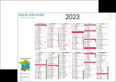 creer modele en ligne affiche exemple calendrier 2015 bancaire a2 recto et verso 6 mois par page calendrier de bureau periode vacances MLGI28871