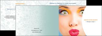 faire modele a imprimer depliant 2 volets  4 pages  centre esthetique  beaute bien etre coiffure MLGI29037