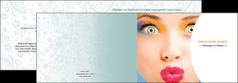 creation graphique en ligne depliant 2 volets  4 pages  centre esthetique  beaute bien etre coiffure MLIP29039