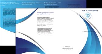 maquette en ligne a personnaliser depliant 4 volets  8 pages  dentiste dents dentiste dentier MLGI29101