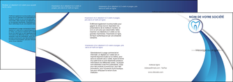impression depliant 4 volets  8 pages  dentiste dents dentiste dentier MLGI29103