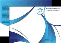 imprimer depliant 2 volets  4 pages  dentiste dents dentiste dentier MLGI29107