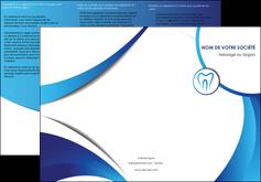 personnaliser modele de depliant 3 volets  6 pages  dentiste dents dentiste dentier MLGI29115