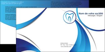 maquette en ligne a personnaliser depliant 2 volets  4 pages  dentiste dents dentiste dentier MLGI29121