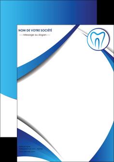personnaliser modele de flyers dentiste dents dentiste dentier MLGI29127