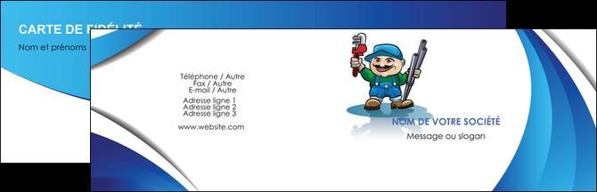 Personnaliser Maquette Carte De Visite Plomberie Plombier Travail MLGI29401