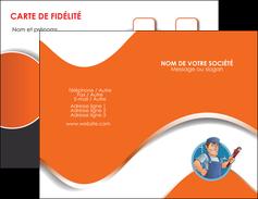 personnaliser modele de carte de visite plomberie travail travailleur casquette MLGI29519