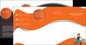 creer modele en ligne depliant 4 volets  8 pages  plomberie travail travailleur casquette MIS29565